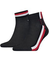 Tommy Hilfiger Quarter 2 Pack Iconic Stripe - Black