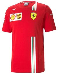 PUMA Scuderia Ferrari Team Short Sleeve T-shirt - Red