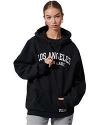 Superdry City College Oversized Hoodie - Black