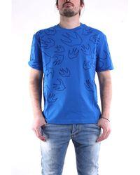 McQ T-shirt à manches courtes de couleur bleue