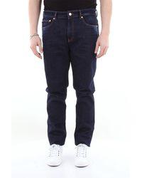 Love Moschino Jean 5 poches en coton stretch - Bleu