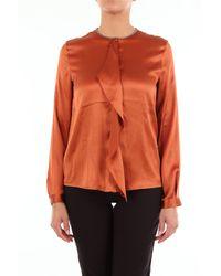 Fabiana Filippi Camisa clásica color - Naranja