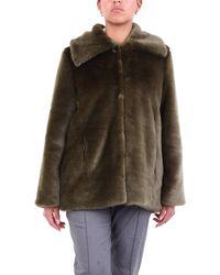 L'Autre Chose El abrigo corto de piel verde autrechose