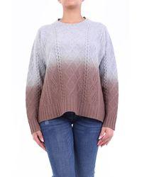 Altea Jersey de cuello redondo gris y marrón manga larga - Multicolor