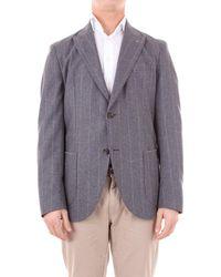 Eleventy Trousse chaqueta - Gris