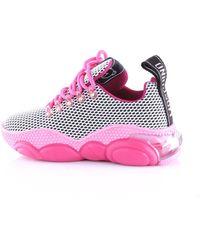 Moschino Sneakers di colore fucsia e nero - Multicolore