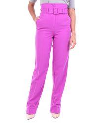 ACTUALEE Pantalon palazzo violet