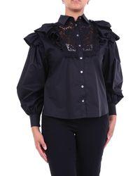 P.A.R.O.S.H. Blusa negra con volantes - Negro