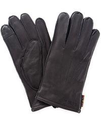 Barbour Baacc1916 guanti in pelle - Nero