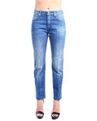 People Gilda 13l jeans gamba dritta - Azul