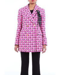 Versace Cappotto corto bi-colore - Multicolore