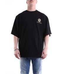 Gcds T-shirt con maniche corte di colore nero