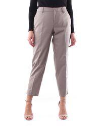PT01 Pantalón chino gris paloma - Marrón
