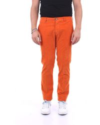 Jacob Cohen Pantalones de hombre bobby - Naranja