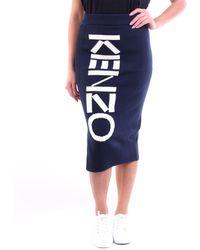 KENZO Faldas hasta la rodilla - Azul