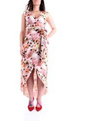 Patrizia Pepe 2a2221/a9c7 abito a portafoglio stampa floreale all over - Rosa