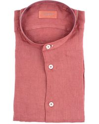 MASTRICAMICIAI Camisa en lino color teja - Rosa