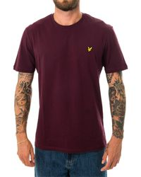 Lyle & Scott T-shirt plain ts400v.z562 - Rosso