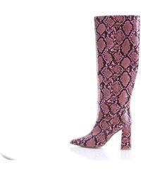 Jeffrey Campbell Botas de en rosa y negro - Morado