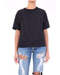 P.A.R.O.S.H. - P. a. r. o. s. h. t-shirt maniche corte di colore nero - Lyst