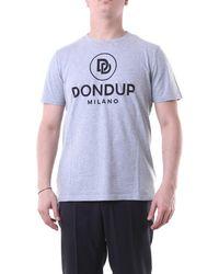 Dondup T-shirt con maniche corte di colore grigio