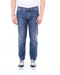 Roy Rogers Roy Roger's jeans Elias Cut slim fit con tasca america Jeans Slim - Blu