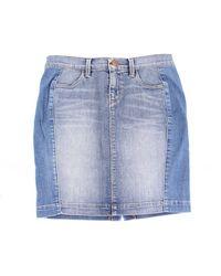 J Brand Minifalda de jeans azules