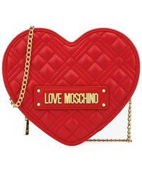 Love Moschino Borsa a tracolla cuore quilted rosso