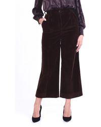 Dolce & Gabbana Dolce&gabbana pantalone cropped color testa di moro con trama a costine - Marrone