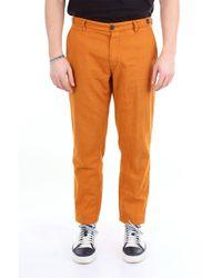 Whitesand 88 Pantalon de couleur unie sable blanc 88 avec poche america - Orange