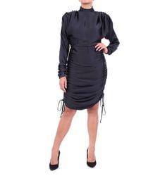 ACTUALEE Robe longuette en noir