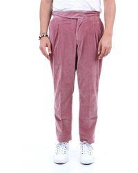 PT Torino Pantalon en coton côtelé - Rose