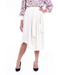 Isabel Marant Jupe mi-longue de couleur écru - Blanc