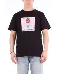 Neil Barrett Neil barret camiseta bicolor de manga corta - Negro