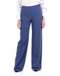 Emporio Armani Pantalon palazzo - Bleu