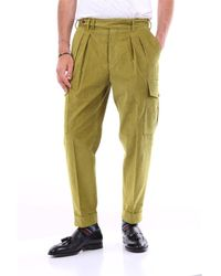 PT Torino Pantalon en coton côtelé - Vert
