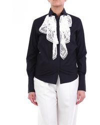 Patou Blusa negra con encaje a contraste - Negro