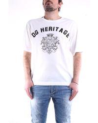 Dolce & Gabbana Camiseta blanca de manga corta - Blanco