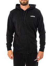 adidas Felpa essential plain hoodie du0383 - Nero