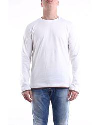 Eleventy Camiseta de manga larga en color - Blanco