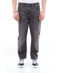 7 For All Mankind 7 pour tous les hommes jean skinny ronnie avec 5 poches - Gris