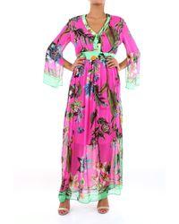 Clips Longue robe fantaisie fuchsia - Rose