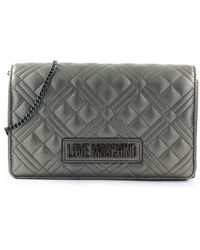 Love Moschino Clutch quilted canna fucile - Grigio