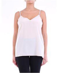 FEDERICA TOSI Camiseta sin mangas essential color - Blanco