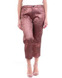J Brand Pantalones capri de en color - Metálico
