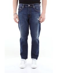 Love Moschino Jean 5 poches avec détruit - Bleu