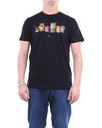 PS by Paul Smith Camiseta de manga corta con estampado frontal paul smith - Negro