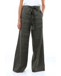D. EXTERIOR D.exterior pantalone con fondo largo color verdone - Multicolore
