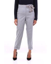 Peserico Pantalon gris classique