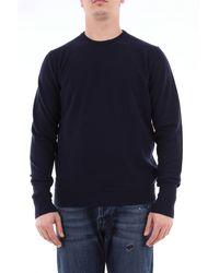 Drumohr Suéter de cachemir color liso - Azul